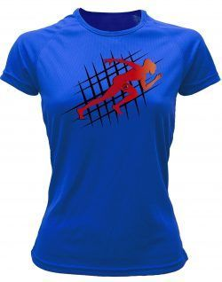 Camiseta de deporte running azul royal