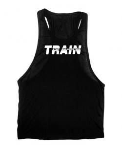 Camiseta tirantes gym negra train